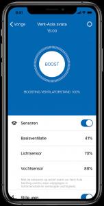 Vent-Axia Connect App intensieve ventilatie